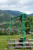 Skilift in summertime — Stock Photo