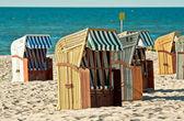 Plážová lehátka — Stock fotografie
