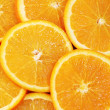 Orange slice on white background — Stock Photo