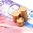 Philippine Currency 2010 issue of various denominations — Stock Photo