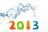 Happy New Year 2013 spray — Stock Photo