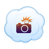 Icon on the clouds — Stock Photo