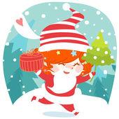 Tarjeta de navidad divertido y lindo — Foto de Stock