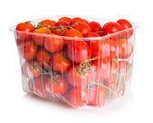 Cherry Tomatoes in plastic package — Stock fotografie