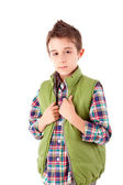 Portrait of a little boy at school — Stock Photo