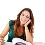 Ritratto di un giovane studente felice — Foto Stock