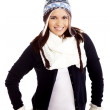 Stock Photo: Beautiful woman wearing winter clothes
