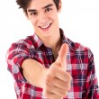Young student expressing positivity - Thumbs Up — Stock Photo