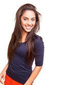 Vacker blandning race kvinna poserar — Stockfoto
