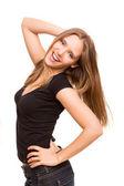 Beautiful young woman posing — Stock Photo