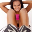 Young african woman in great shape - fitness concept — Stock Photo