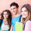 Young group of students in campus — Stock Photo