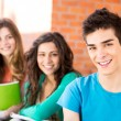 Young group of students in campus — Stock Photo #28212745