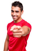 Man pointing front — Stock Photo