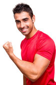 Man showing his great shape — Foto Stock