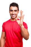 Man showing Ok sign — Stock Photo