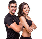Two beautiful fitness instructors — Stock Photo