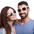 Portrait of a funny couple — Stock Photo #39553773
