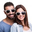 Stock Photo: Portrait of a funny couple