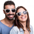 Portrait of a funny couple — Stock Photo #39554773