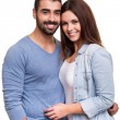 Couple posing over white background — Stock Photo #39586081