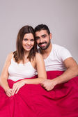Couple in bed — Стоковое фото