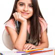 Little girl drawing — Stock Photo #47383787