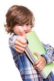 Boy holding school books — Stock Photo