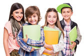 Group of little students — Stock Photo