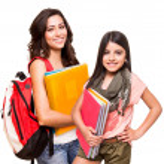 Two happy students — Stock Photo #50363863