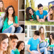 Students in school campus — Stock Photo #50367529