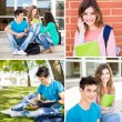 Students in school campus — Stock Photo #50367745