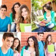 Students in school campus — Stock Photo #50367833