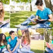 Students in school campus — Stock Photo #50368037