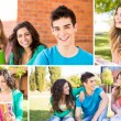 Students in school campus — Stock Photo #50368207