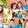 Students in school campus — Stock Photo #50368343