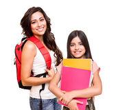 Två glada studenter — Stockfoto