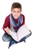 Boy holding a sketchbook — Foto de Stock