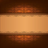Vintage background with decorative ornament — Stock Vector