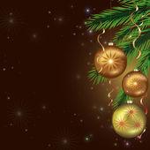 Año nuevo y tarjeta de navidad, celebración fondo — Vector de stock