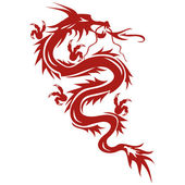 Dragon - a symbol of oriental culture — Stock Vector