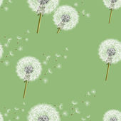 Background seamless pattern with dandelion — Stock Vector