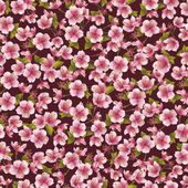 Background seamless pattern with sakura blossom — Stock Vector