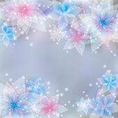 Tarjeta de felicitación o invitación, fondo floral festivo — Vector de stock