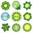 Set of elements for Eco design vector — Stock Vector