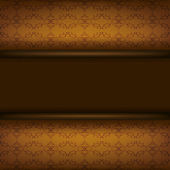 Vintage ornamental brown background with board — Vector de stock