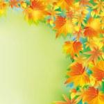 piękne tło jesień z liść spadnie — Wektor stockowy