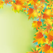 Beautiful autumn background with leaf fall — Stock Vector