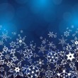 Winter blue background with ornate snowflakes — Imagen vectorial