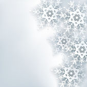 Stylish creative abstract background, 3d snowflake — Stock Vector